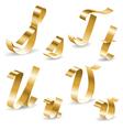 Ribbon alphabet S T U V vector image vector image