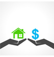 Save home and money concept vector image