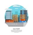 Sea Port Round Design vector image vector image