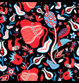 seamless floral bright pattern vector image vector image