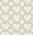 Seamless pattern hand-stitched heart on dark vector image vector image