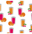 seamless texture consisting of fruits and cups vector image