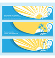 Seascape flat banners for text vector image vector image