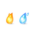 set icon for logo with drop shape vector image vector image
