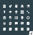 Set of Office and Media Icons vector image