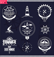 Set of vintage marine logos logotypes and badges vector image vector image