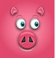 smiling face of pig symbol of chinese new year vector image vector image