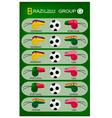 Soccer Tournament of Brazil 2014 Group G vector image