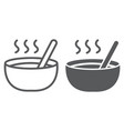soup line and glyph icon food and meal bowl sign vector image vector image