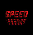 speed style font vector image vector image