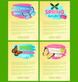 spring best offer sale stickers web posters text vector image vector image