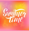 summer time calligraphic design vector image