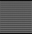 tile pattern with white triangles black background vector image vector image