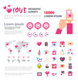 valentines day infographic set template vector image vector image