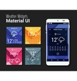 Weather widgets UI and UX material Kit vector image vector image