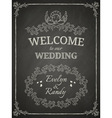wedding poster vector image vector image