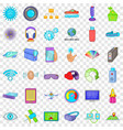 wireless technology icons set cartoon style vector image vector image