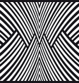 abstract striped background black and white vector image
