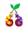 Cartoon caterpillar insect vector image