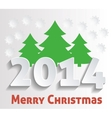 Icon Merry Christmas vector image