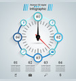 abstract 3d infographic speedometer arrow icon vector image