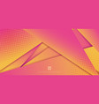 abstract modern fururistic pink and yellow vector image vector image