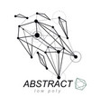 abstract three-dimensional shape design element vector image vector image