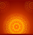 background design with orange mandalas