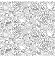 Beach doodle seamless pattern vector image vector image