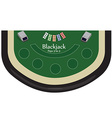 Blackjack table vector image vector image