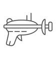 blaster thin line icon weapon laser blaster vector image