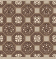 brown floor tiles ornament pattern print vector image vector image