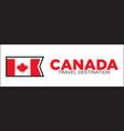 canada travel destination banner vector image