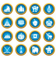 canada travel icons set simple style vector image vector image