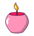 candle spa icon cartoon style vector image vector image