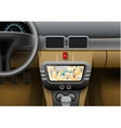 Car Navigation Syster vector image vector image