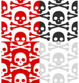 cartoon skull pattern set vector image