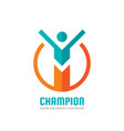 champion - business logo template concept vector image vector image