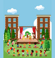 children performing on stage vector image vector image