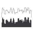 city skyline silhouette vector image vector image