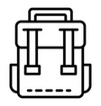 classic backpack icon outline style vector image vector image