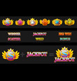 creations slot machine and game icons vector image vector image
