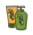 cyprus greek olive oil product cosmetics vector image vector image