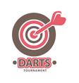 darts championship logo template vector image vector image