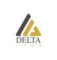 delta sign logo vector image