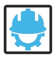 Development Helmet Framed Icon vector image vector image