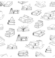 doodle library book seamless pattern vector image