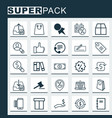 ecommerce icons set collection of box mobile vector image