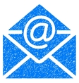 Email Grainy Texture Icon vector image