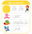 english alphabet tracing worksheets vector image vector image